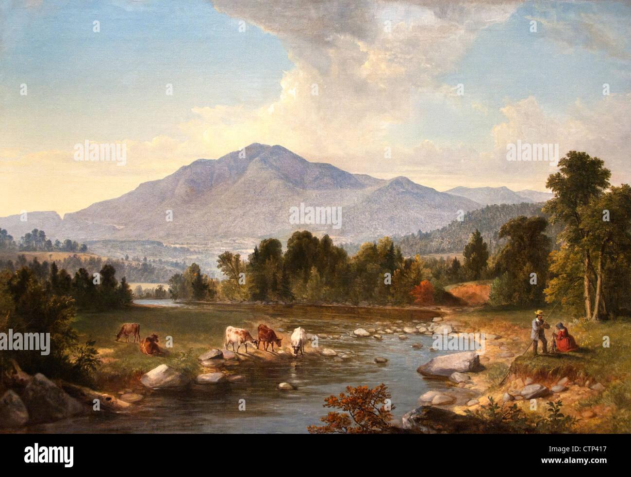 High Point Shandaken Mountains 1853 Asher B.  Durand American United States of America - Stock Image