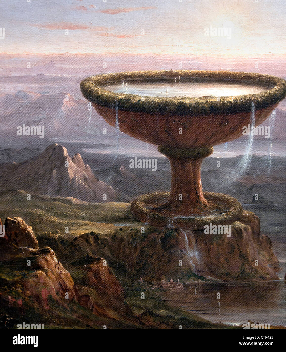 The Titan's Goblet 1836 Thomas Cole American United States of America - Stock Image