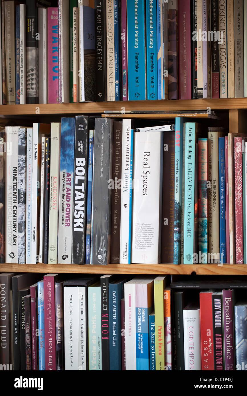 Art Book Shelves - Stock Image