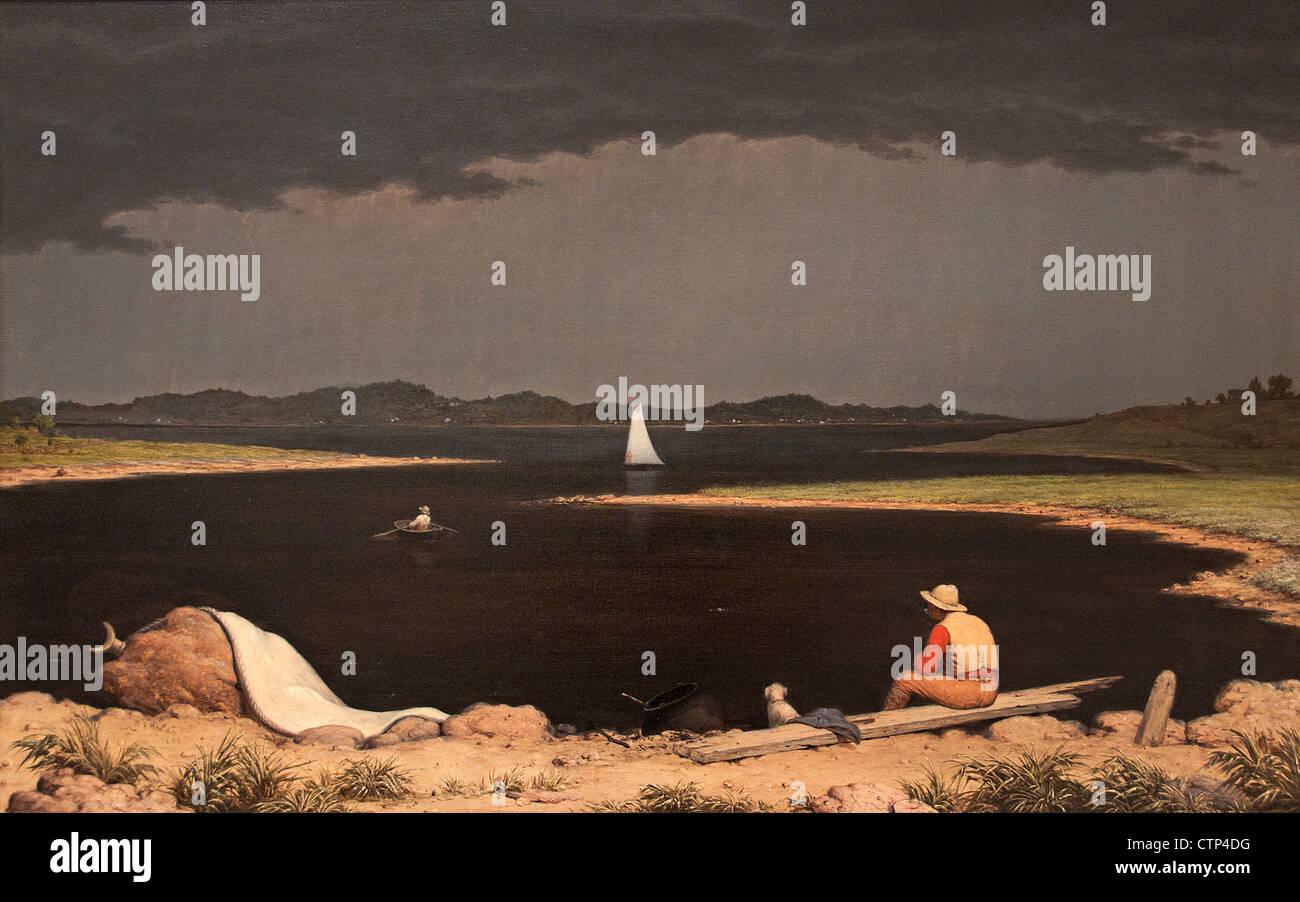 Approaching Thunder Storm 1859 Martin Johnson Heade American United States of America - Stock Image