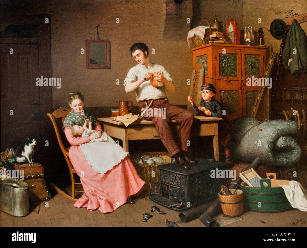 Just Moved 1870 Henry Mosler American United States of America - Stock Image