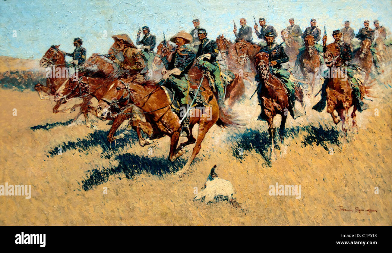 On The Southern Plains 1907 Frederic Remington American United States of America - Stock Image