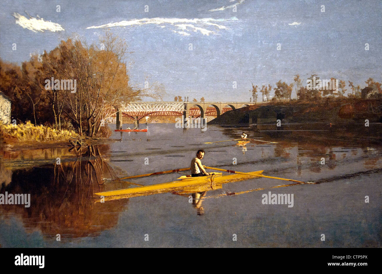 The Champion Single Sculls ( Max Schmitt in a sincle scull ) Thomas Eakins American United States of America - Stock Image