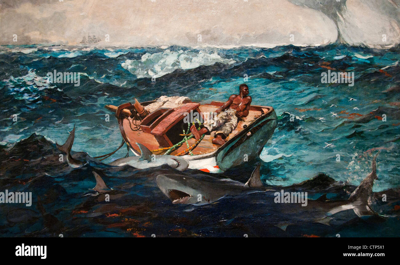 The Gulf Stream 1899 Winslow Homer American United States of America - Stock Image