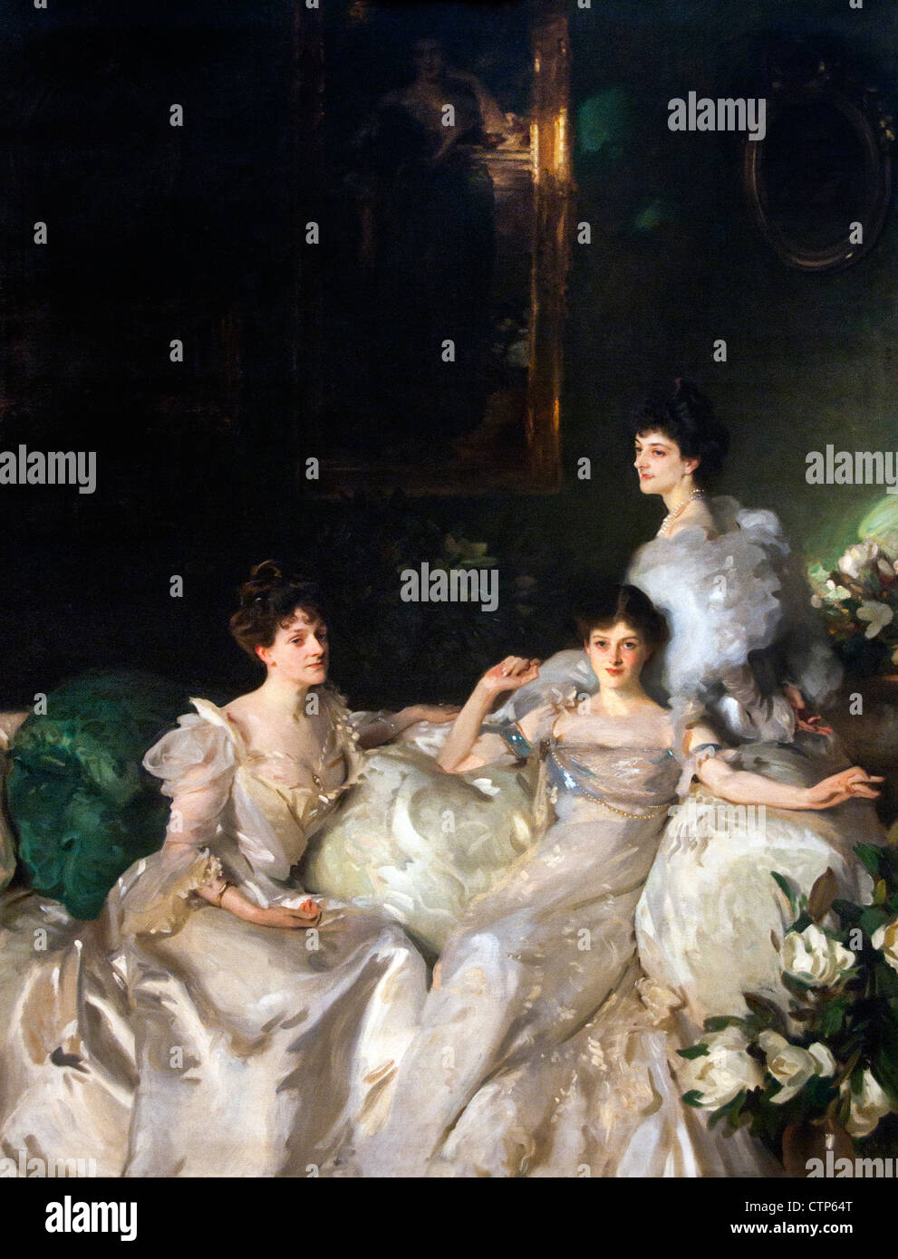 The Wyndham Sisters 1899 John Singer Sargent  American United States of America - Stock Image