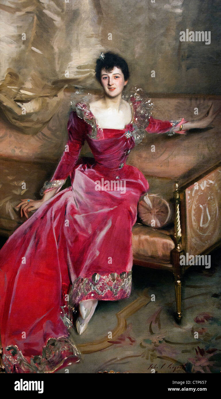 Mrs Hugh Hammersley 1892 John Singer Sargent  American United States of America Stock Photo