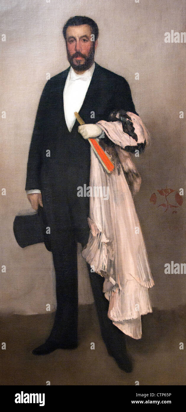 Arrangement in Flesh Colour and Black: Portrait of Theodore Duret 1883 James McNeill Whistler American United States - Stock Image