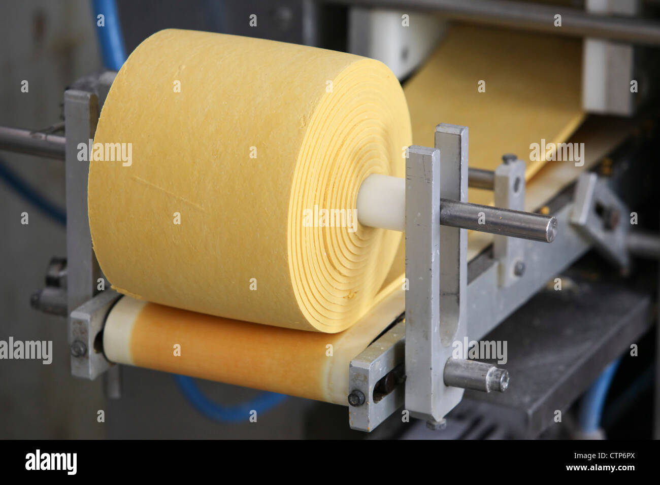 Ravioli production line - Stock Image