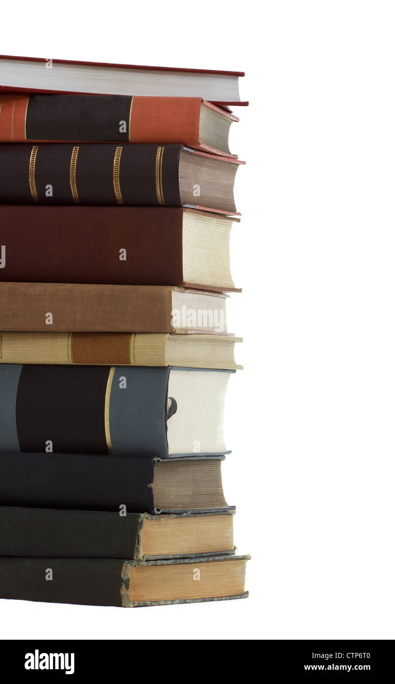 A Stack of  Antique Books (education, learning, studying, wisdom) - Stock Image