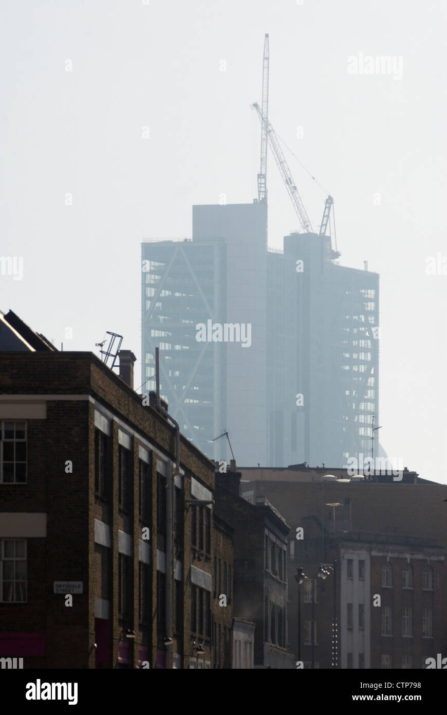 201 Bishopsgate & Broadgate Tower under construction, City of London, UK. - Stock Image