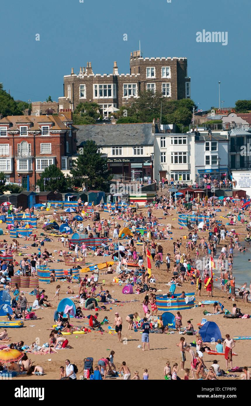broadstairs beach, kent, england - Stock Image