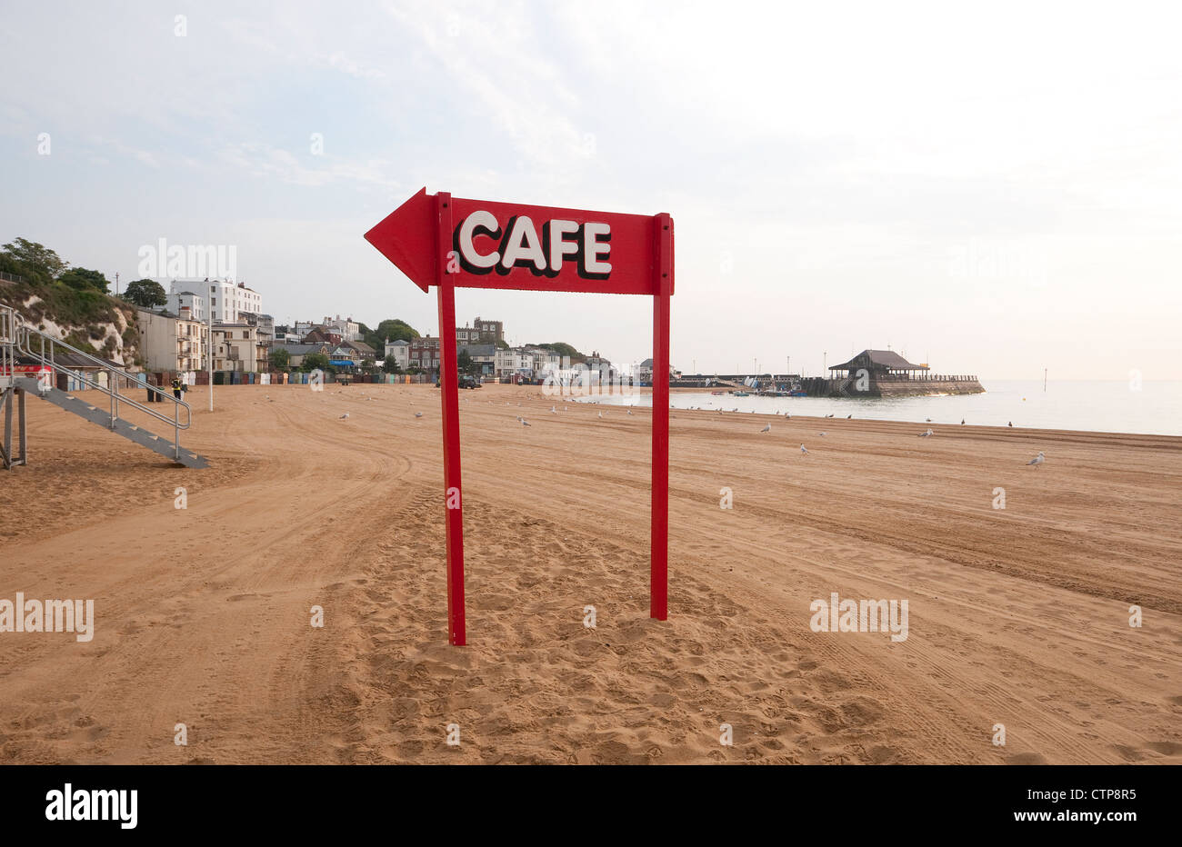 broadstairs beach, kent, england Stock Photo