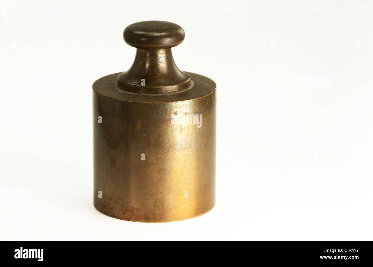 still life of a kilogram weight - Stock Image