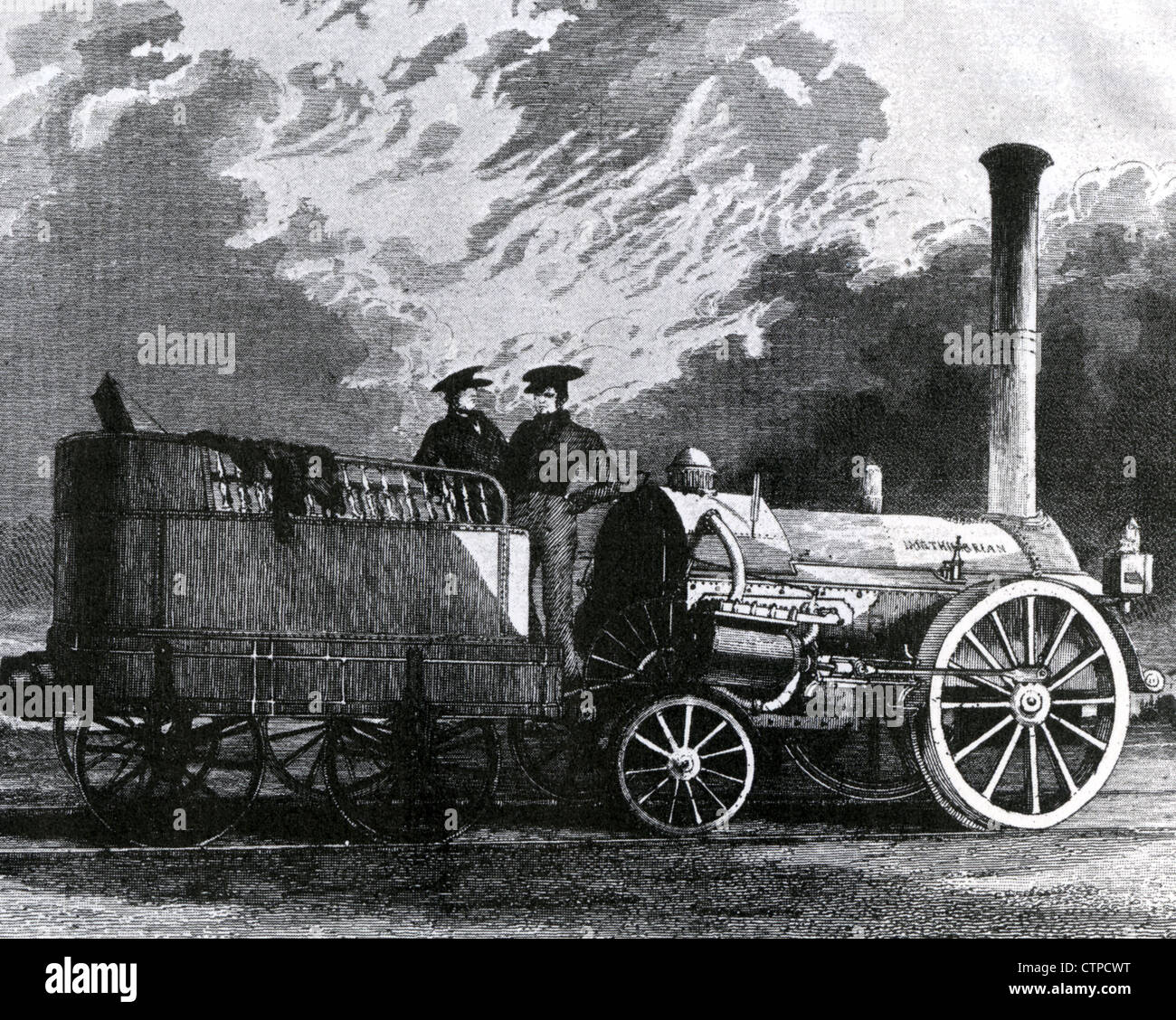 ROBERT STEPHENSON (1803-1859) English railway engineer designed  the Northumbrian in 1830 - Stock Image
