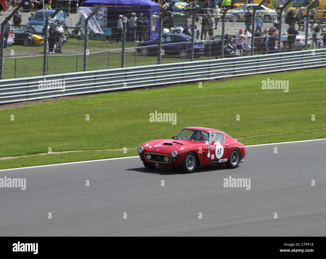 1960 Ferrari 250 SWB at RAC Tourist Trophy for Historic Cars (pre-63 GT) Silverstone Classic July 22 2012 - Stock Image