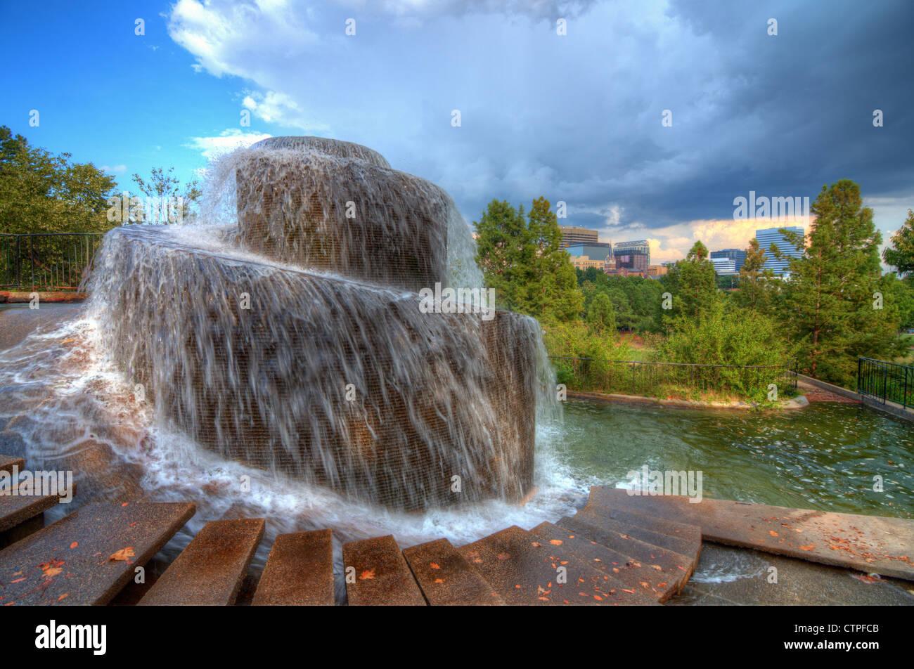 Finlay Park Fountain in Columbia, South Carolina, USA - Stock Image