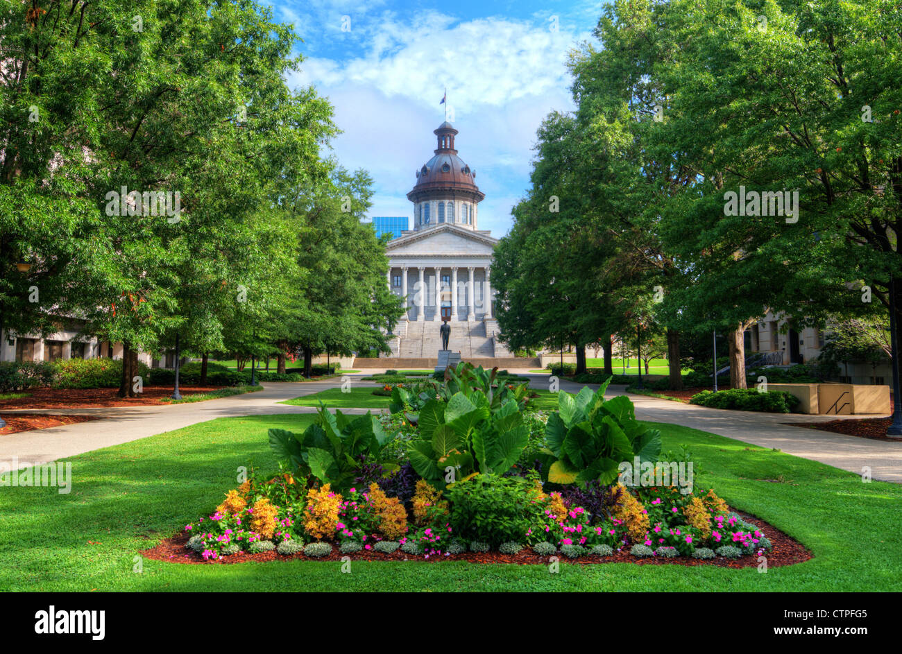 South Carolina State House in Columbia, South Carolina, USA - Stock Image