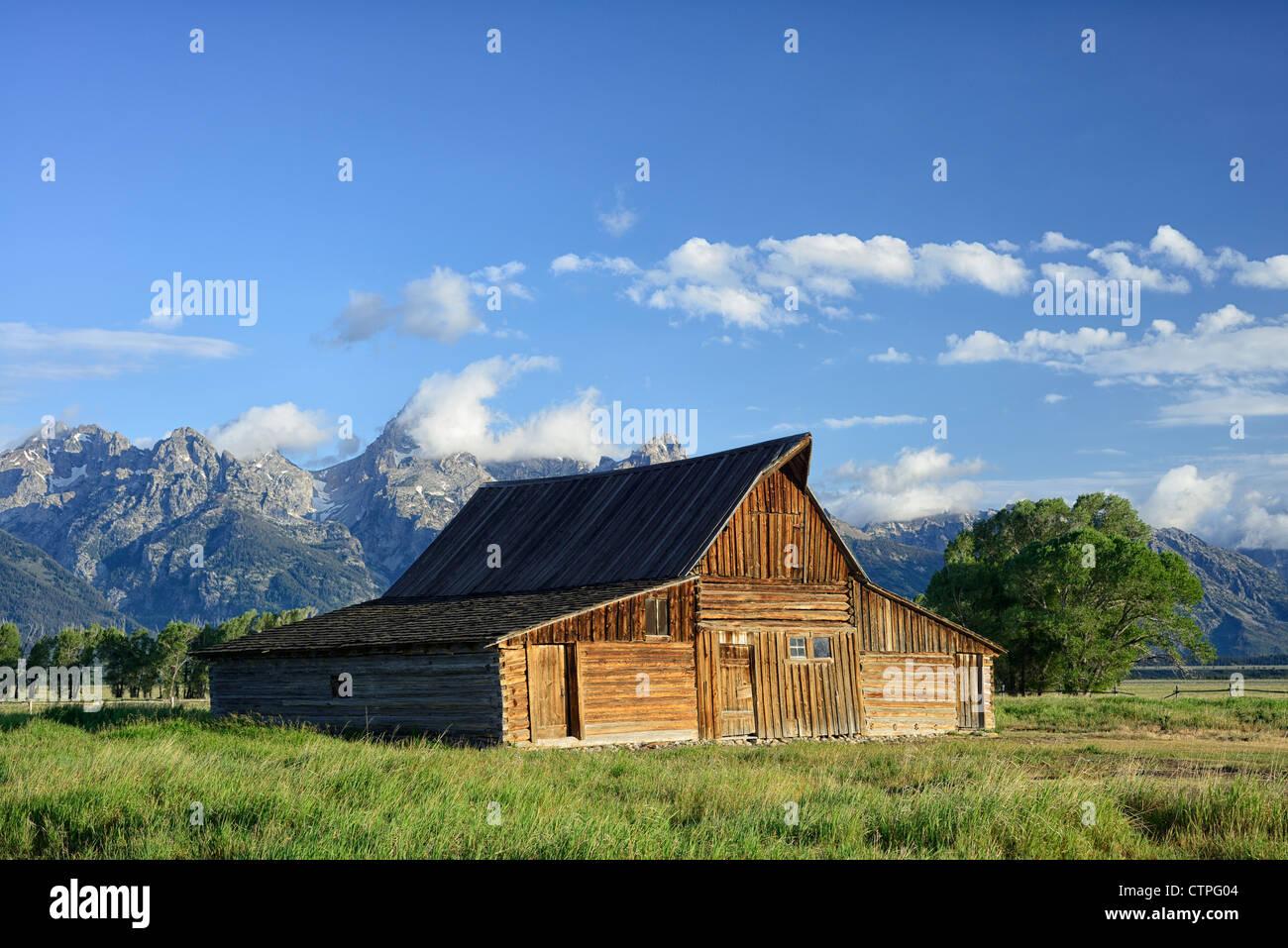 South Mormon Row Barns, Grand Teton National Park, Wyoming, USA - Stock Image