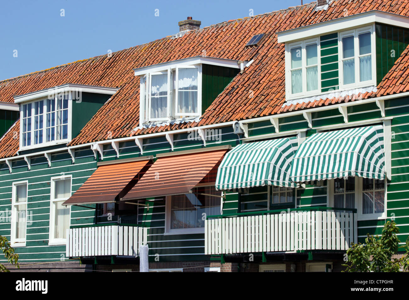 Houses in Marken, Holland - Stock Image