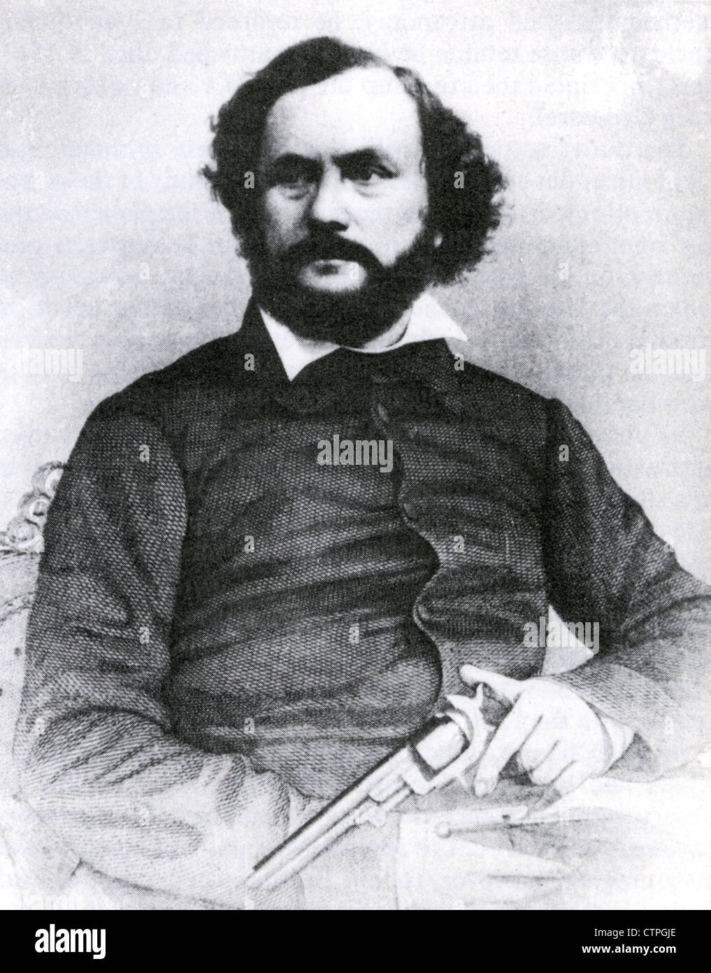 SAMUEL COLT (1814-1862) US inventor and engineer who founded Colt's Patent Firearms Manufacturing Company in - Stock Image