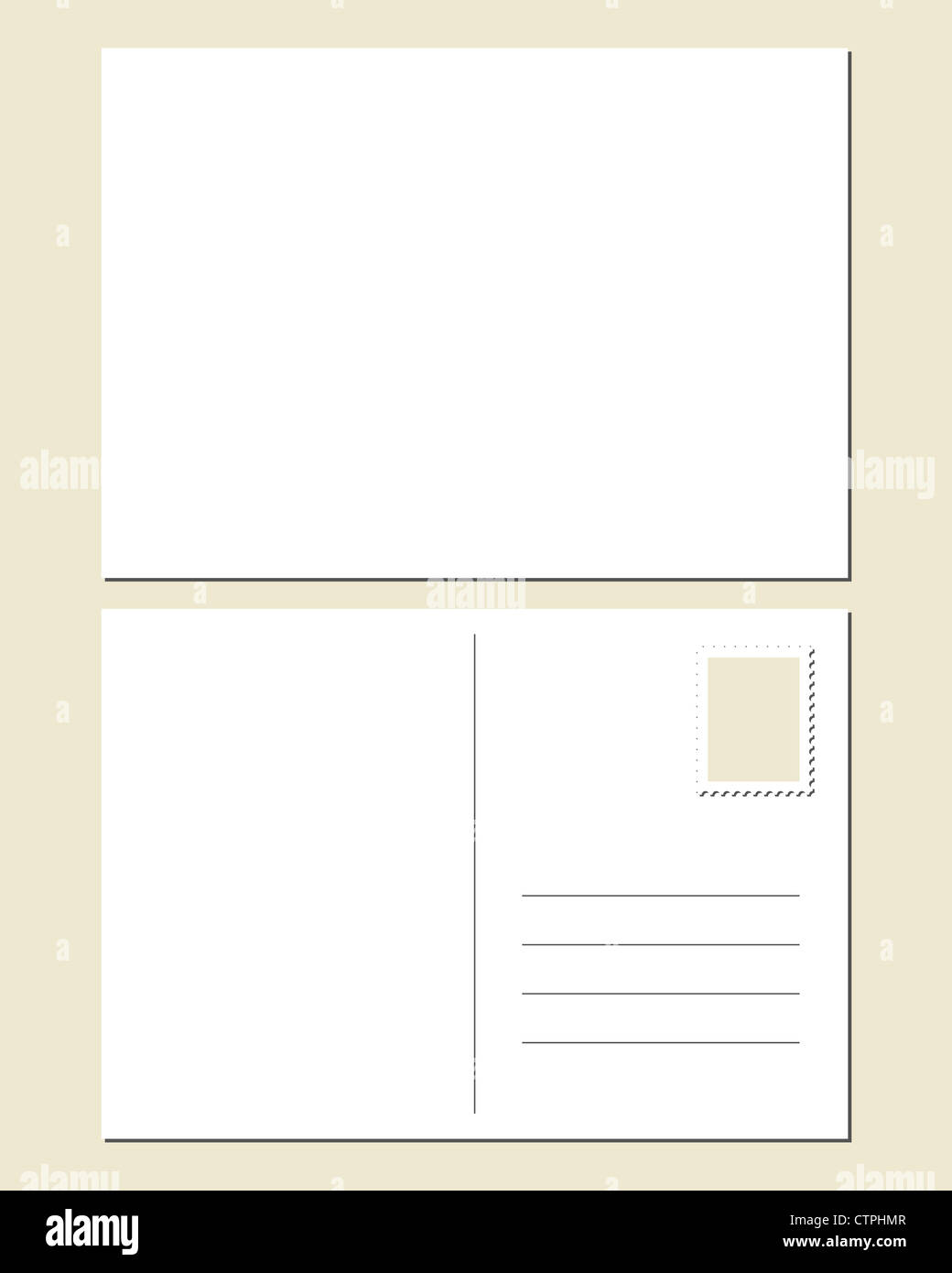 blank postcard front back stock photo 49669335 alamy