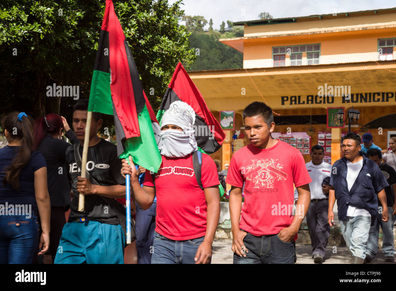 Indigenous People March In Protest To Environmental And Land Disputes Stock Photo Alamy