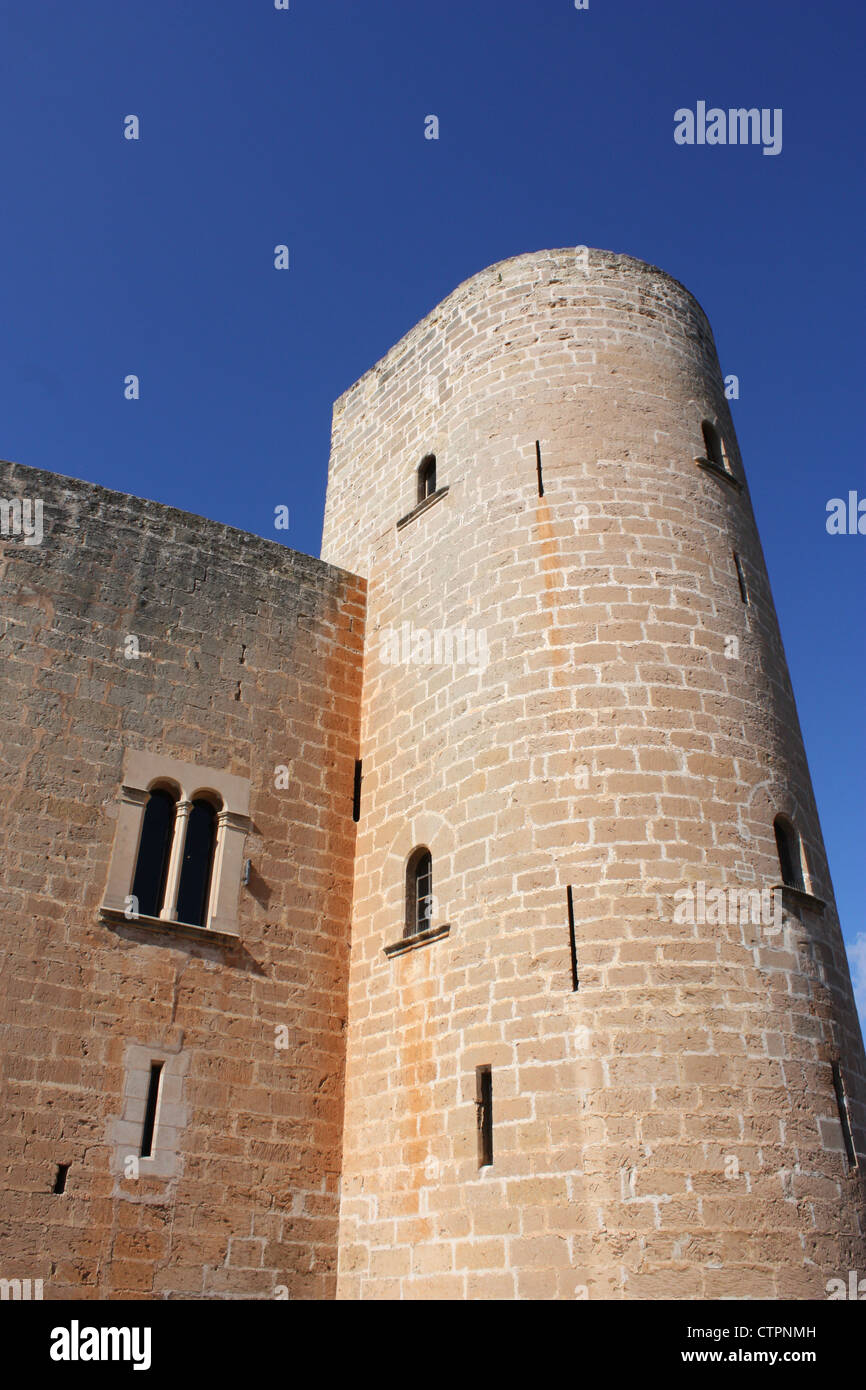 Bellver castle in Majorca, Spain Stock Photo