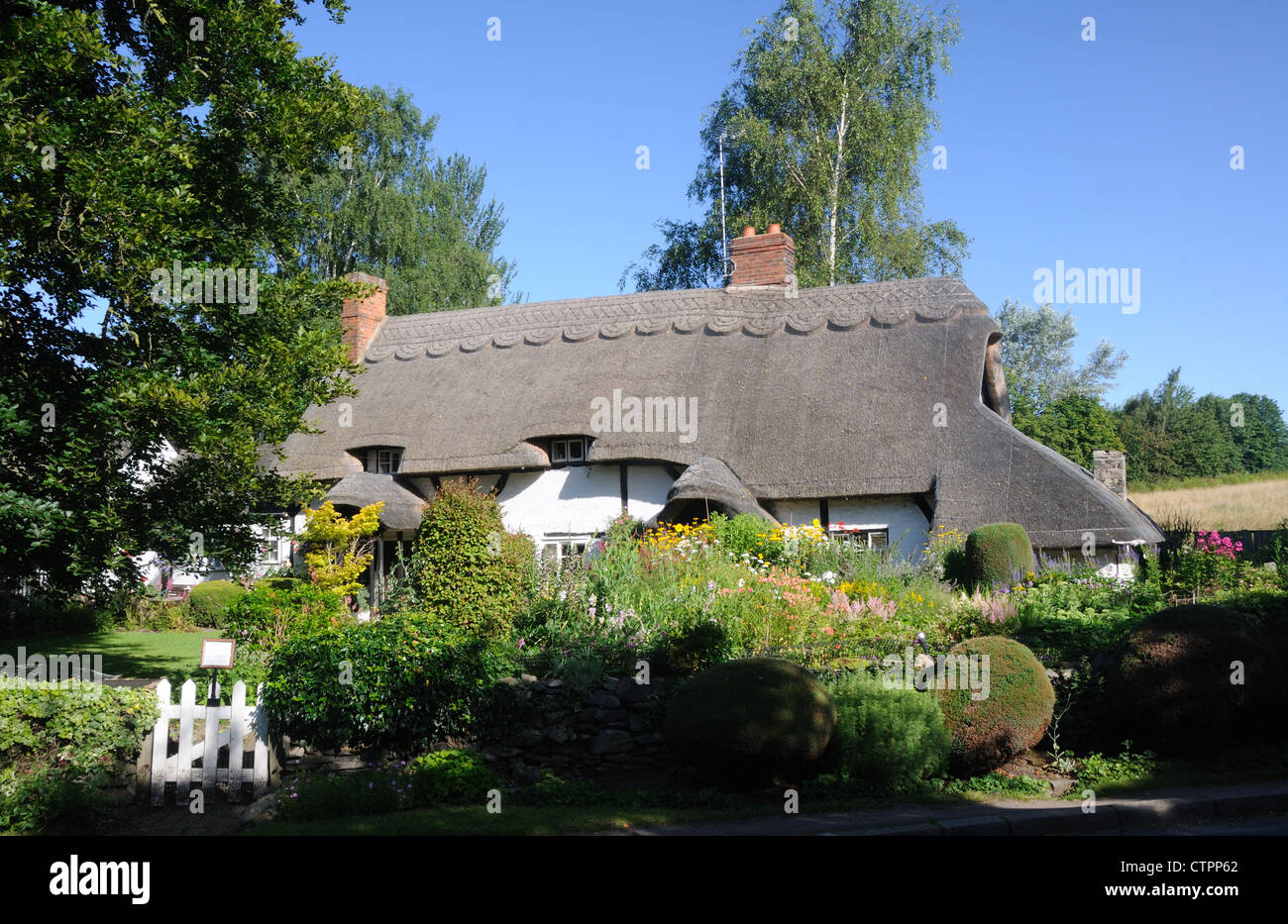 Summer at Pest Cottage, in Woodhouse, Leicestershire, England Stock Photo