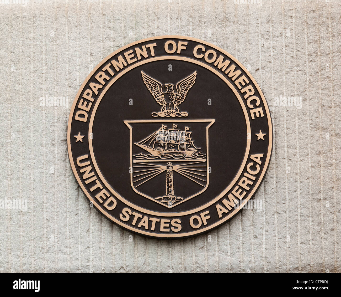 US Department of Commerce seal - Stock Image