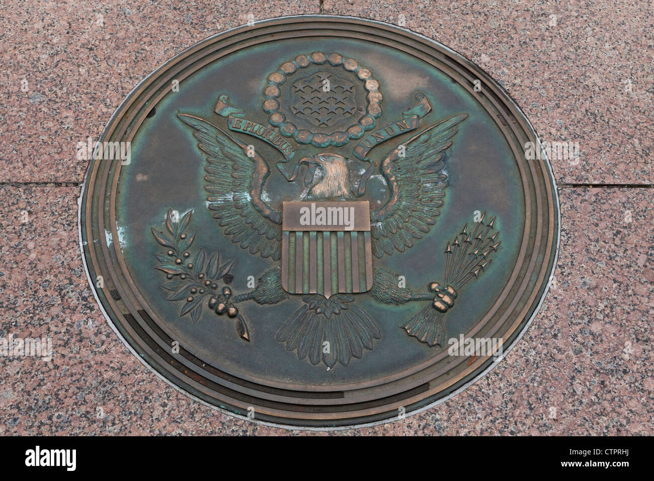 The Great Seal of the United States of America, obverse - Stock Image