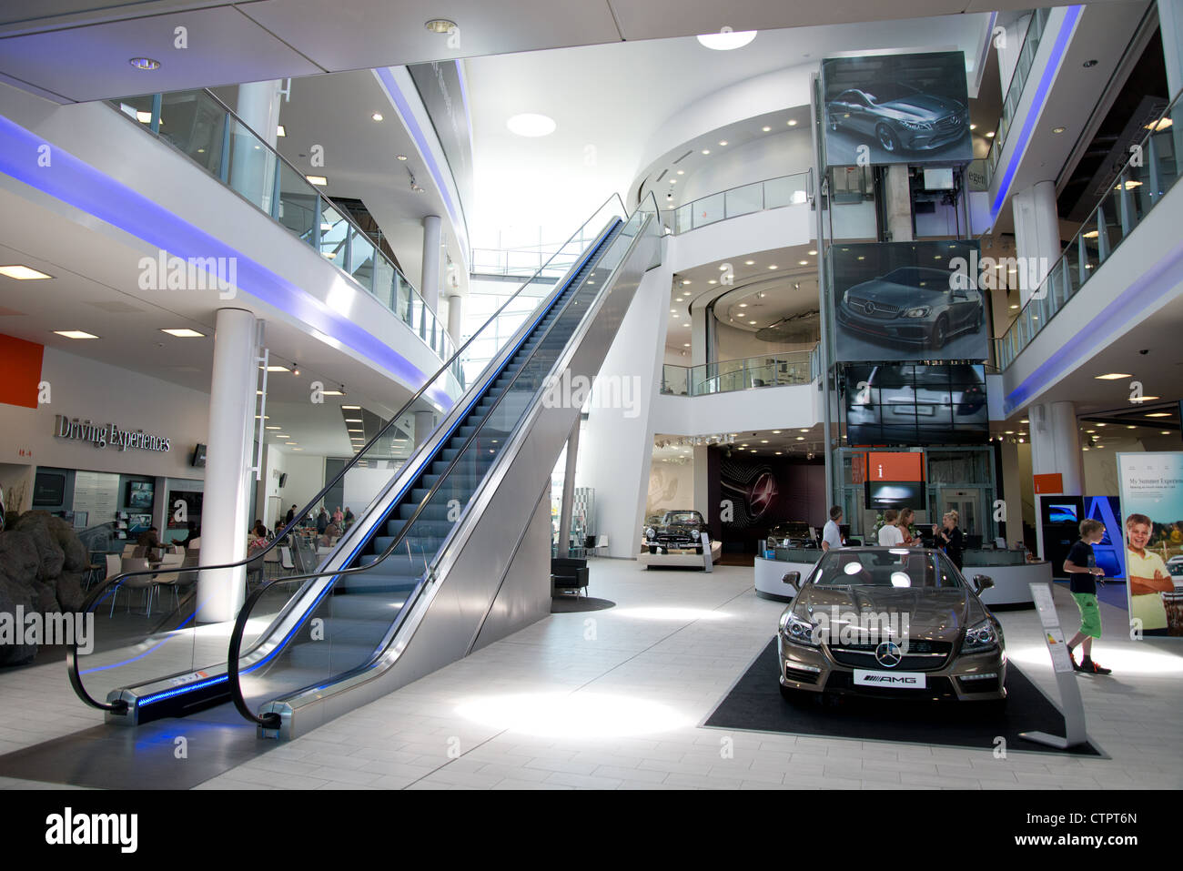 mercedes-benz world, brooklands, weybridge, surrey, england, united