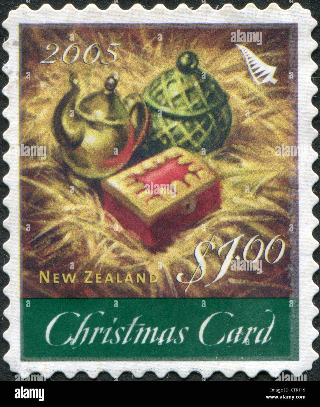 a stamp printed in new zealand is dedicated to christmas the gifts of the - Gold Frankincense And Myrrh Christmas Gifts
