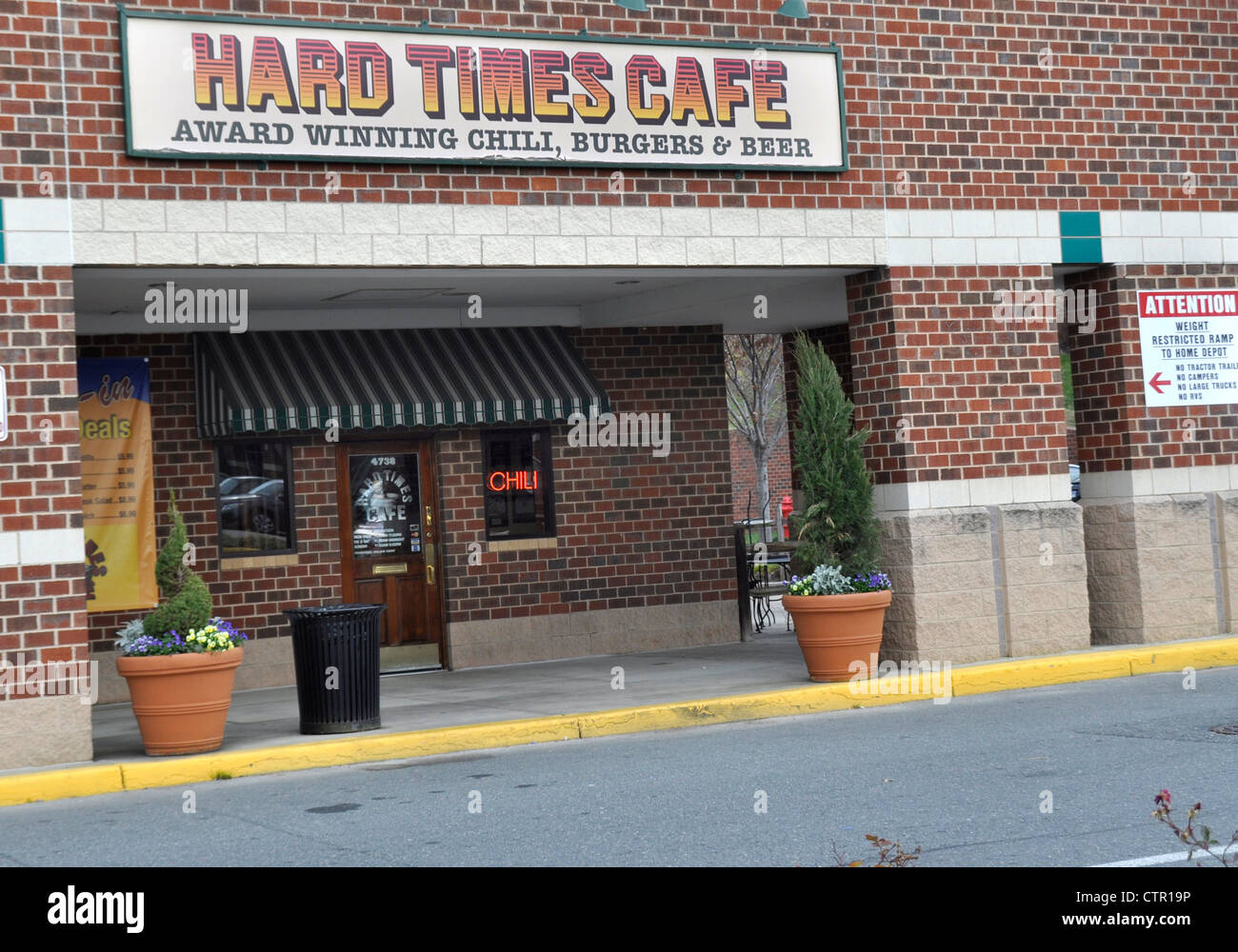 Hard Times Cafe Restaurant In College Park Maryland Stock