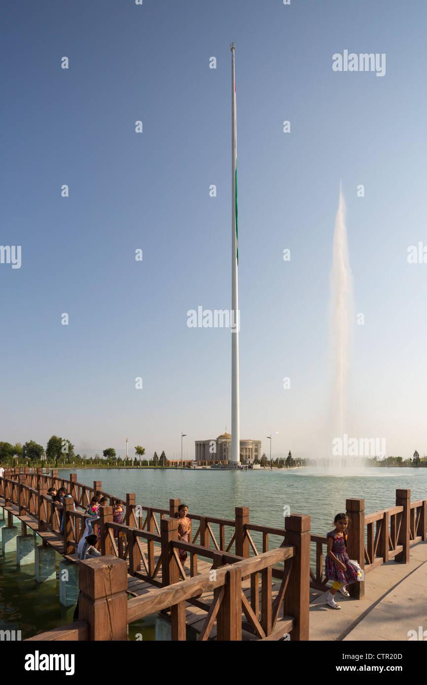 Dushanbe Flagpole, Tajikistan - Stock Image