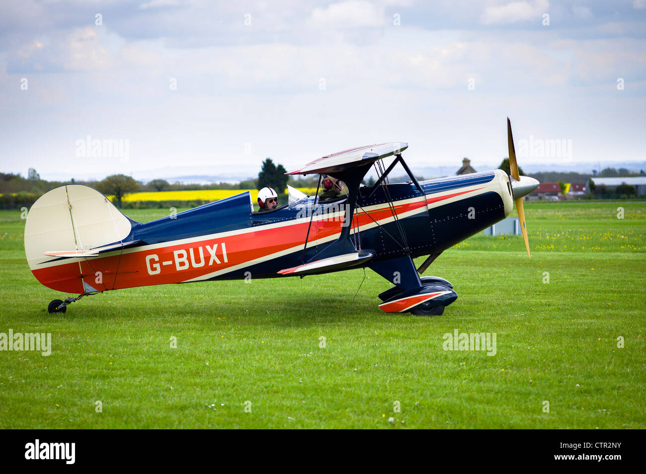 Frankland Skybolt biplane taxiing for take-off - Stock Image