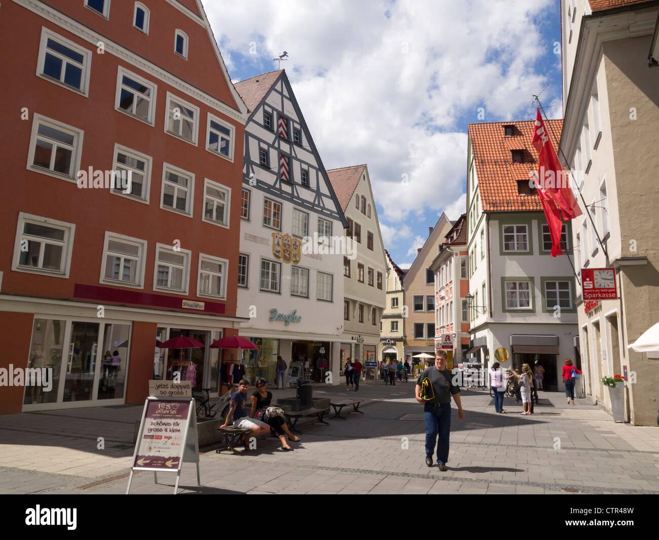 Kramerstraße in Memmingen, Bavaria, Germany, Europe - Stock Image
