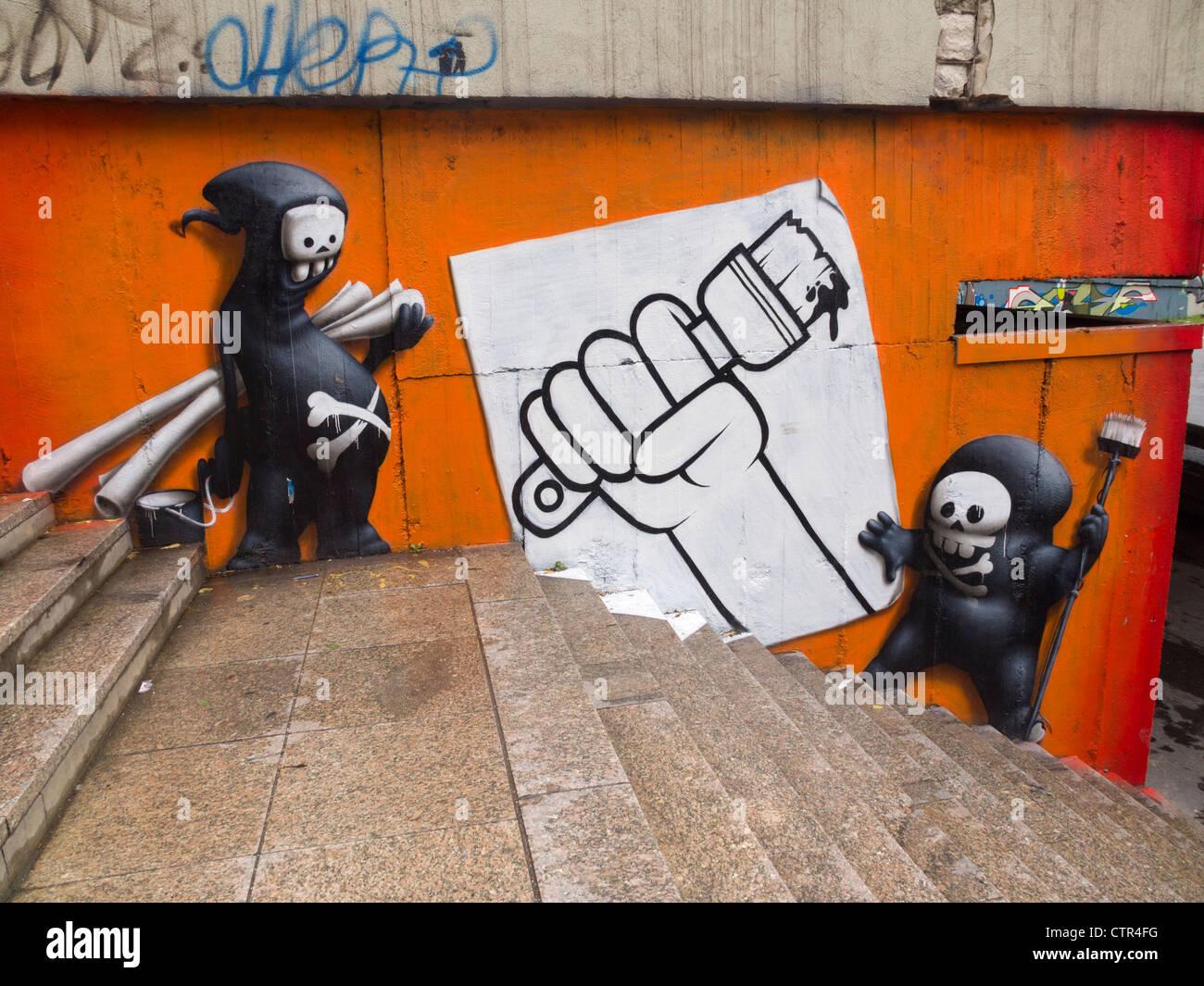 Graffiti wall - Stock Image