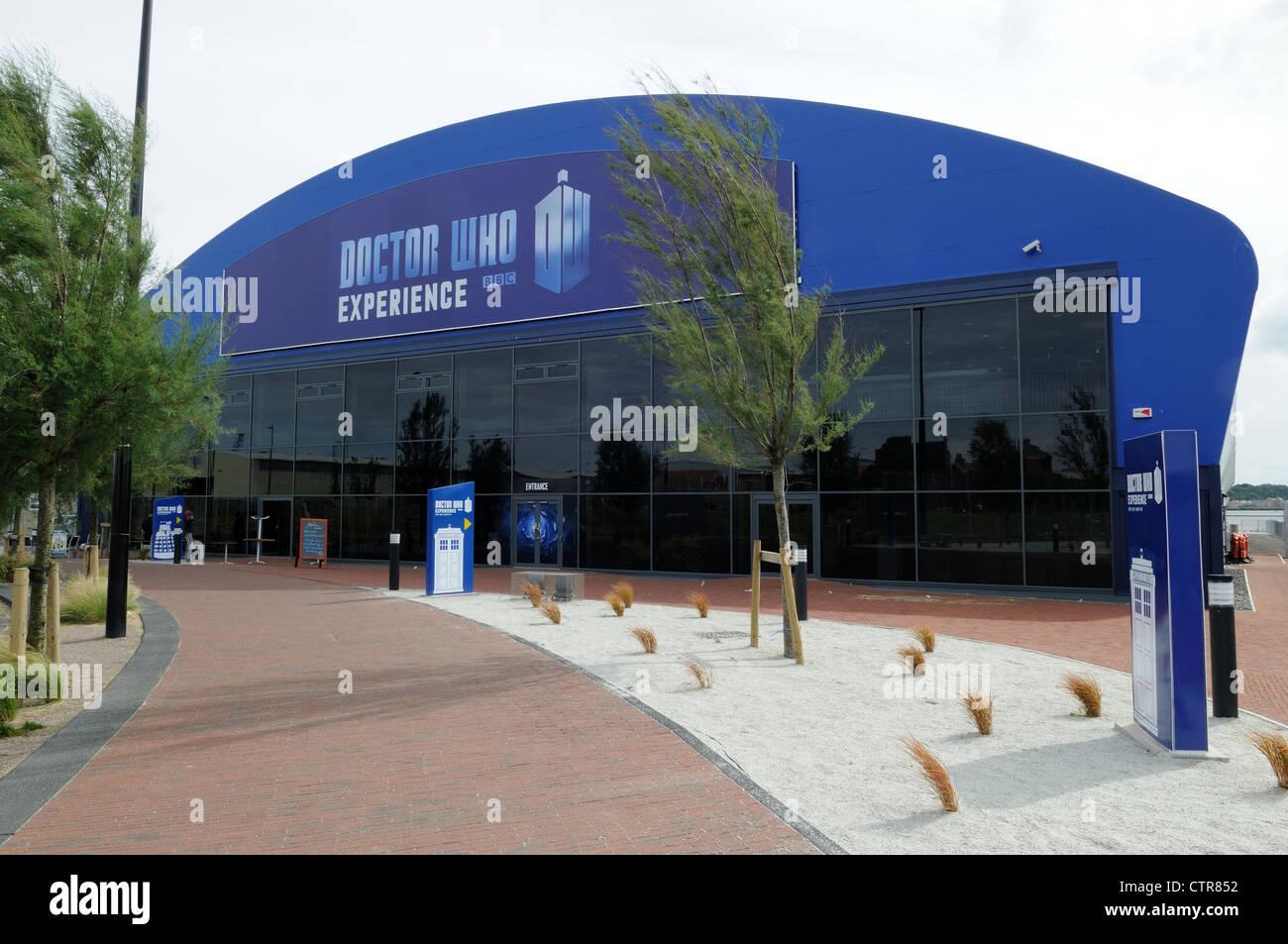 The Doctor Who Experience Building Porth Teigr Cardiff Bay Glamorgan Wales Cymru UK GB - Stock Image