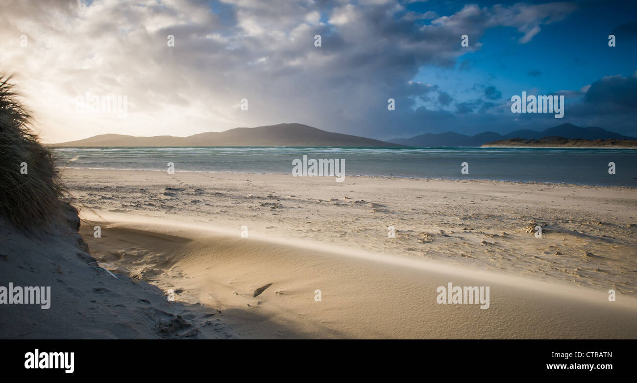 Isle of Taransay, from Seilebost, Isle of Harris, Scotland - Stock Image