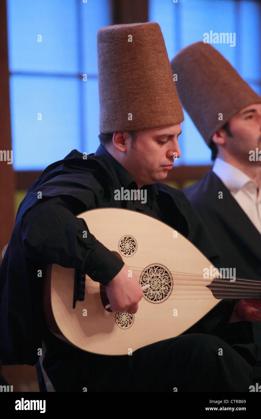 Turkey; Istanbul; sufi musician, - Stock Image