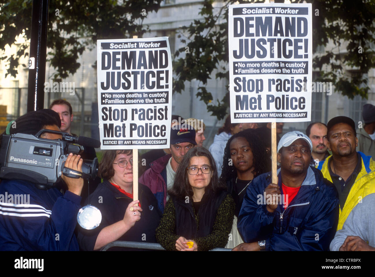Demo and procession in memory of people who have died in police custody, prison or psychiatric hospital, London, - Stock Image