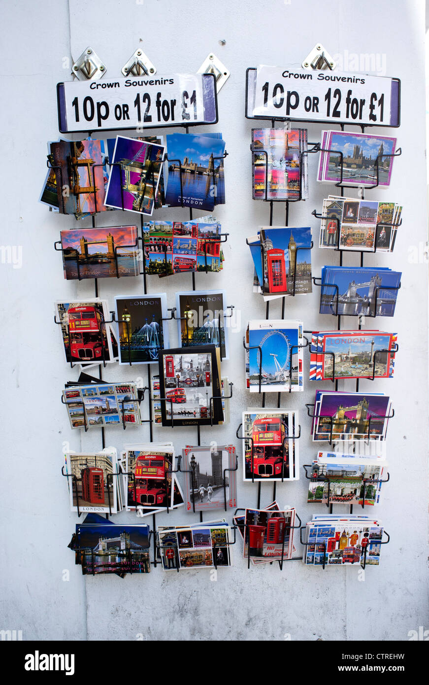 Postcards on sale near Leicester Square - Stock Image