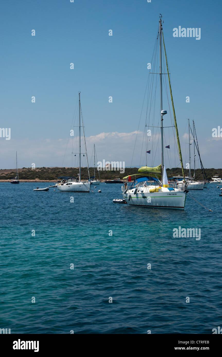 Bay of Espalmador, Formentera, Ibiza - Stock Image