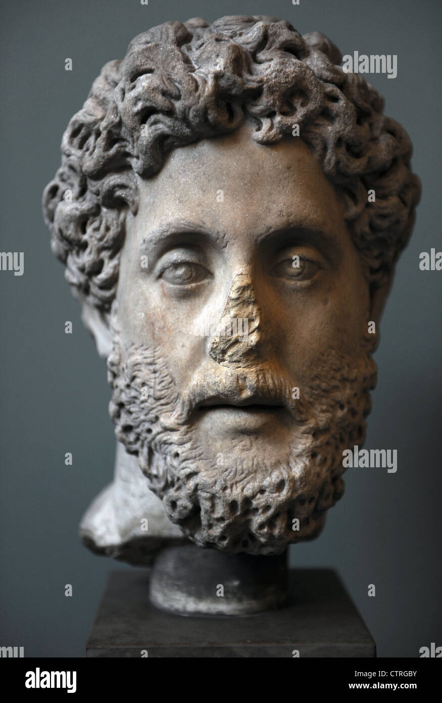 Commodus (161-192). Roman Emperor from 180 to 192. Bust. Marble. - Stock Image