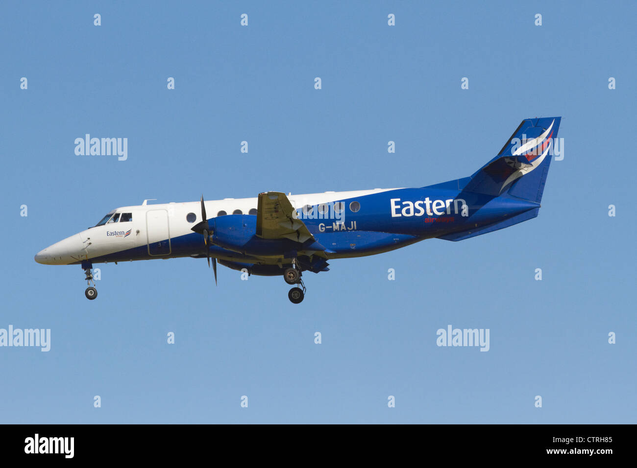 Eastern Airways BAe Jetstream 4102 on final approach Stock Photo