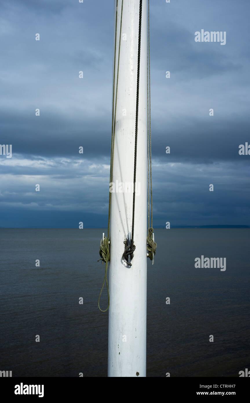 Flagpole Ties - Stock Image