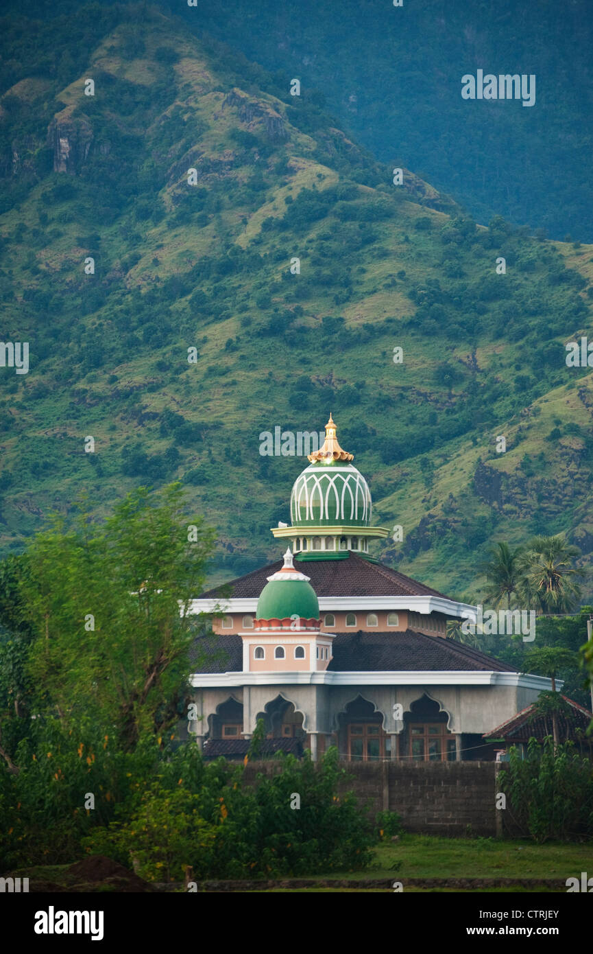 A Bali, Indonesia mosque located in the village of Pemuteran in the northwest corner of the island. - Stock Image