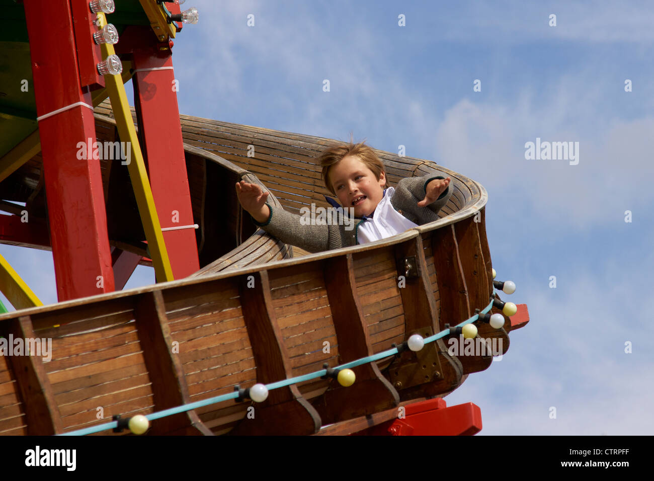 Ride on the slide - Stock Image