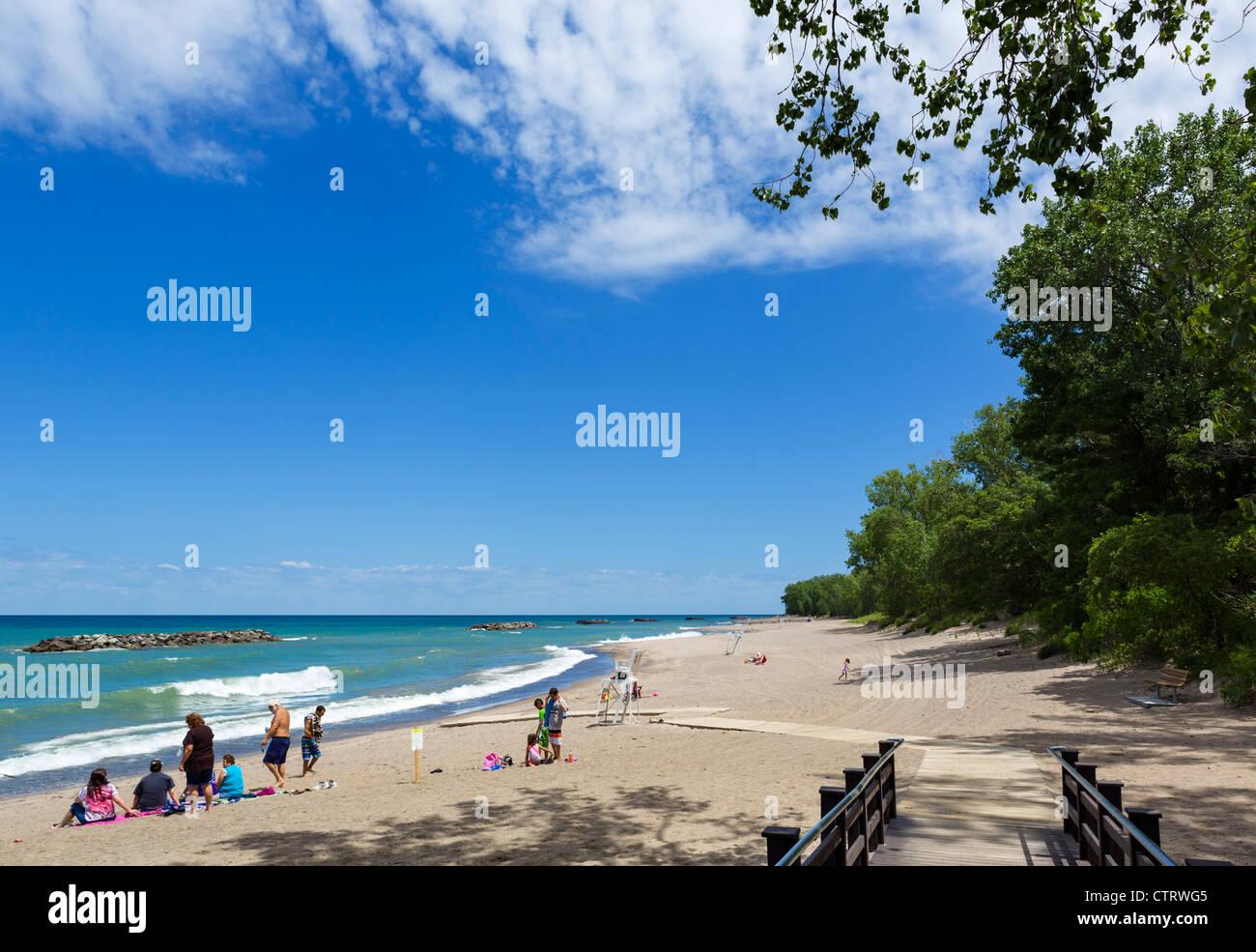 Beach No 7 in Presque Isle State Park, Lake Erie, Pennsylvania, USA - Stock Image