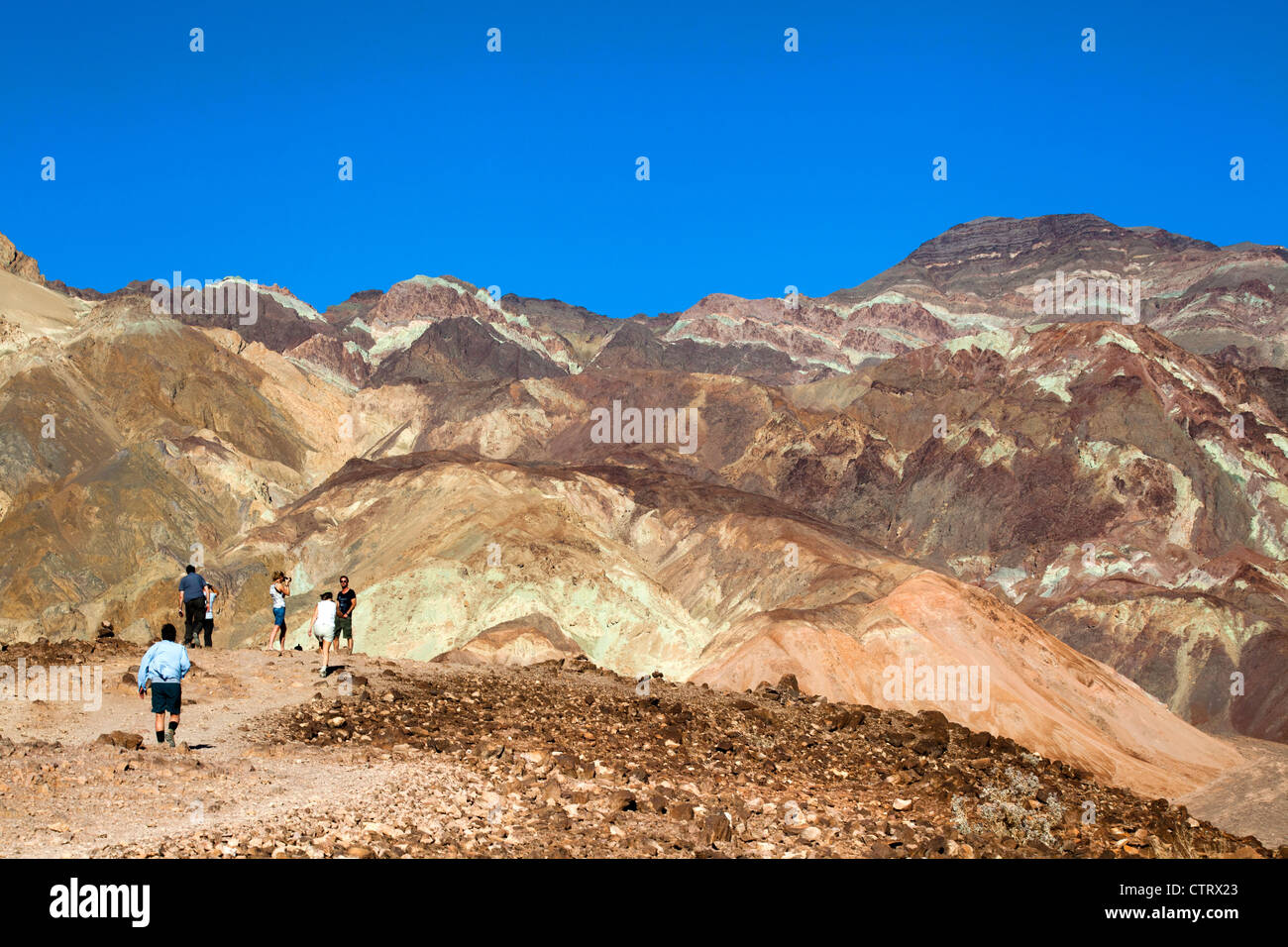 Artists Palette, Death Valley, California, USA, - Stock Image